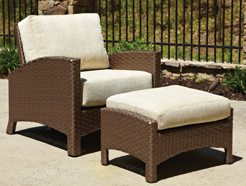 Atlantis Lounge Chair and Ottoman in Mocha