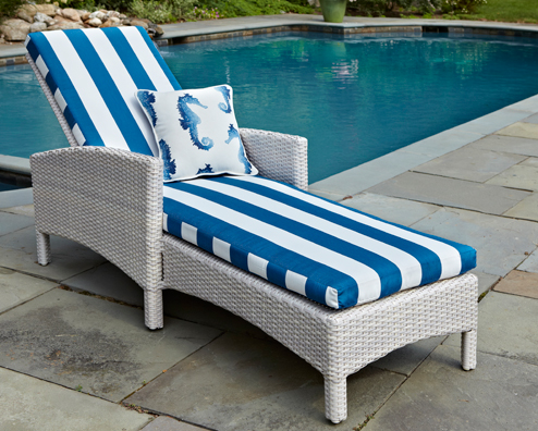 Atlantis Chaise Lounge in Parchment