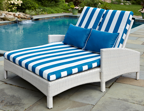 Atlantis Double Chaise Lounge in Parchment