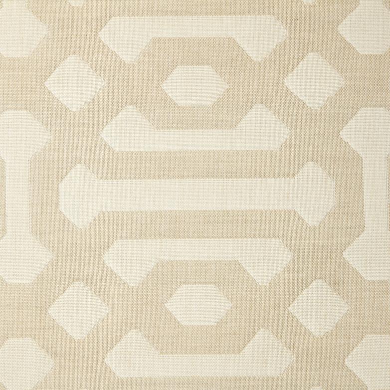 Fretwork-Flax Fabric