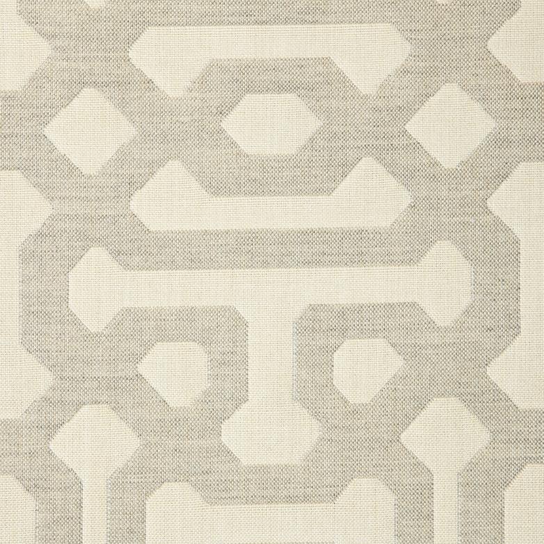 Fretwork-Pewter Fabric