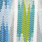 Yucatan Strp Turq Fabric