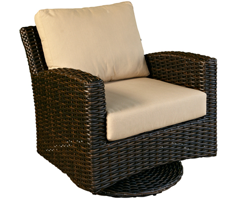 Manhattan Chestnut Swivel Glider