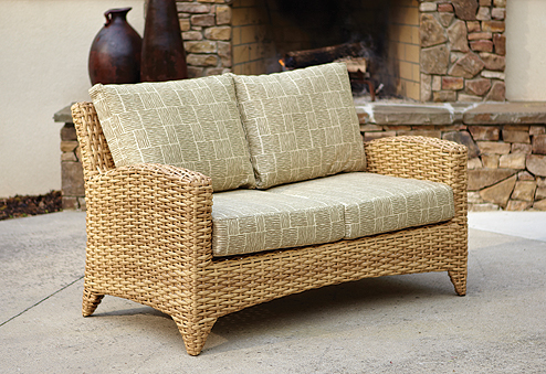 Manhattan Loveseat in Cane