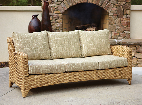 Manhattan 3-Seat Sofa in Cane