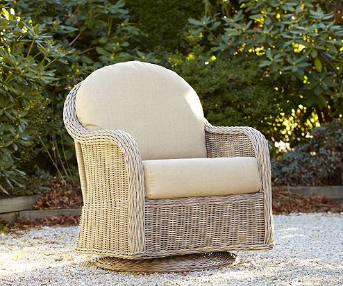 Mariner Swivel Glider in Driftwood