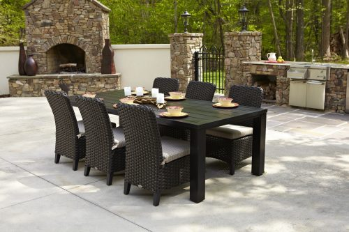 Carlysle armless chairs with Hunt Dining Table