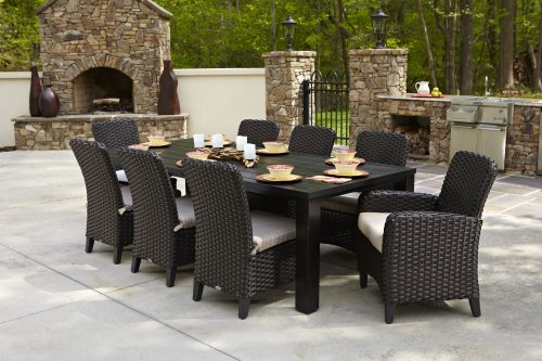 Carlysle armed chairs with Hunt Dining Table