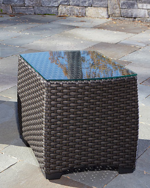 Carlysle end table Mink weave
