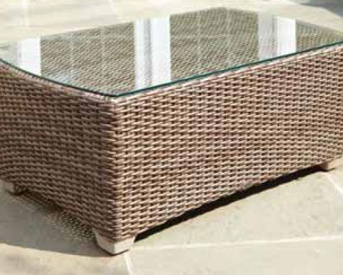 Carlysle coffee table Dune weave